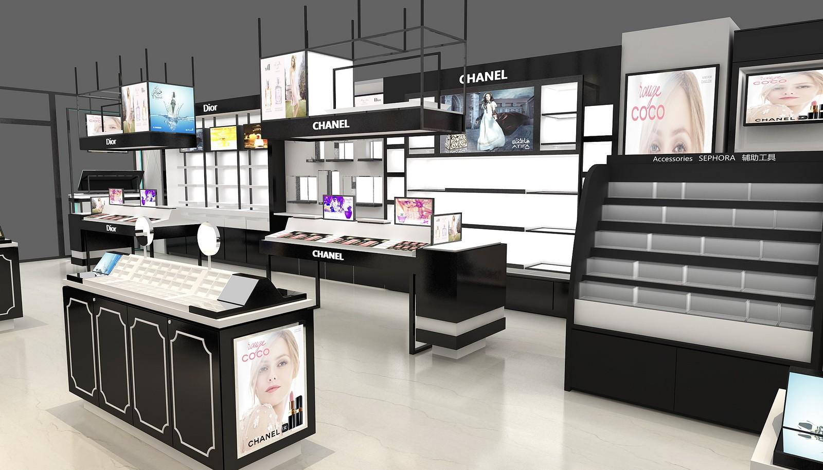 durable cosmetic display cabinet and showcase top brand for wholesale