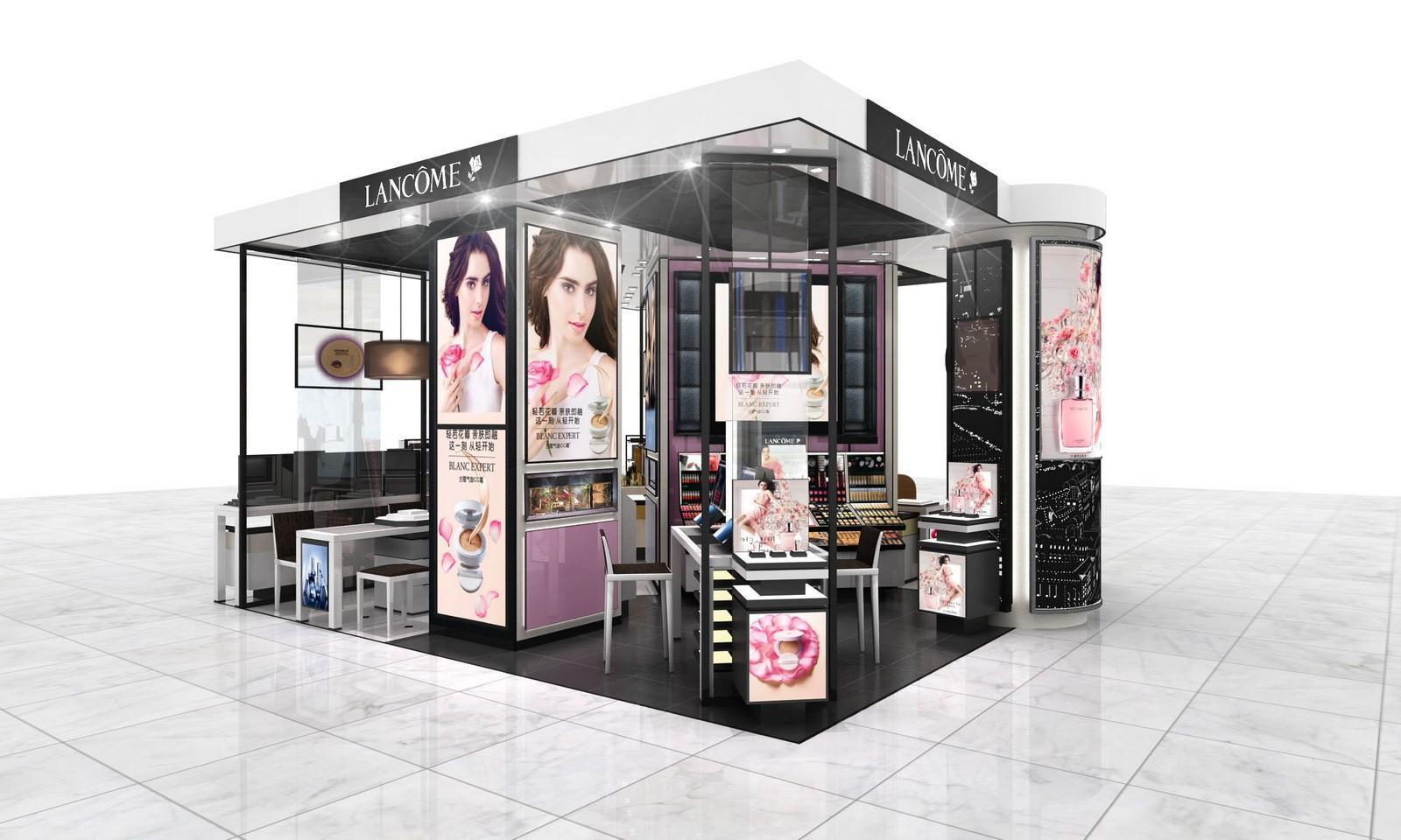 stand showroom newest cosmetic shop racks OUYEE