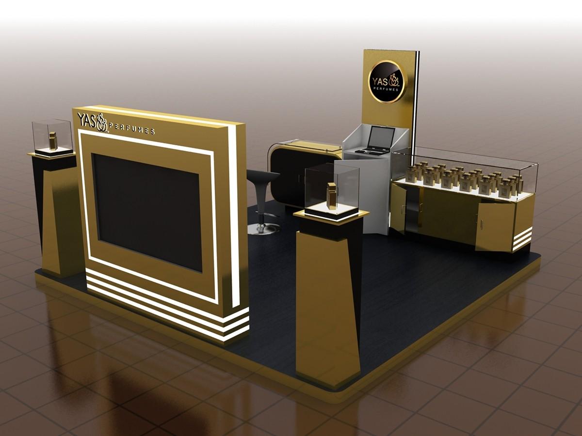 perfume wall organizer custom for decoration OUYEE-6