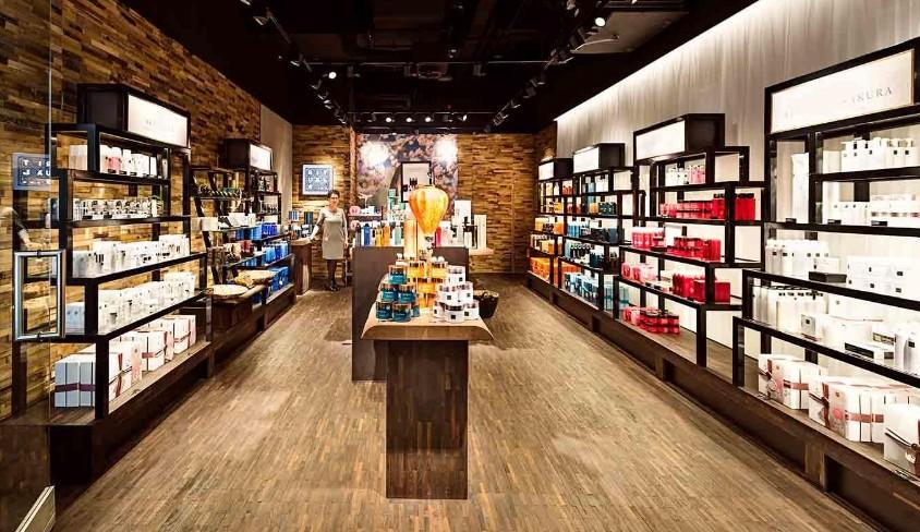 perfume rack stand essence mall perfume stand manufacture