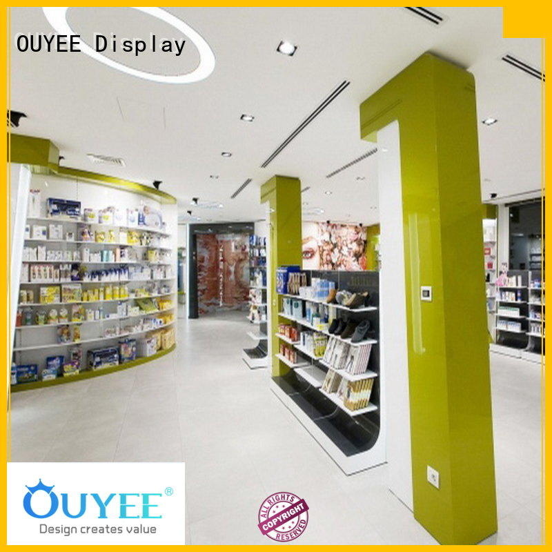 OUYEE Brand decoration supplies pharmacy counter design pharmacy
