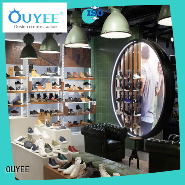 OUYEE durable rotating shoe rack eye-catching for business