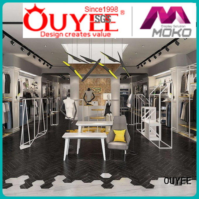 OUYEE free delivery clothing store design ideas cheapest price for decoration