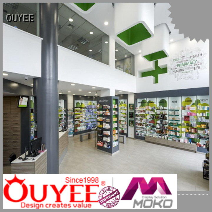 pharmacy counter design retail units pharmacy counter designs OUYEE Brand