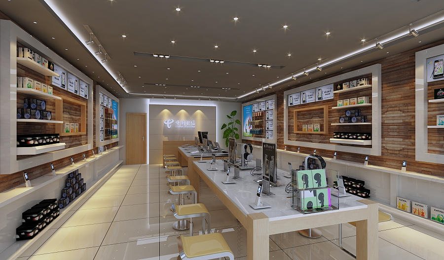 showcase electronic shop interior design fast installation for electronics OUYEE-2