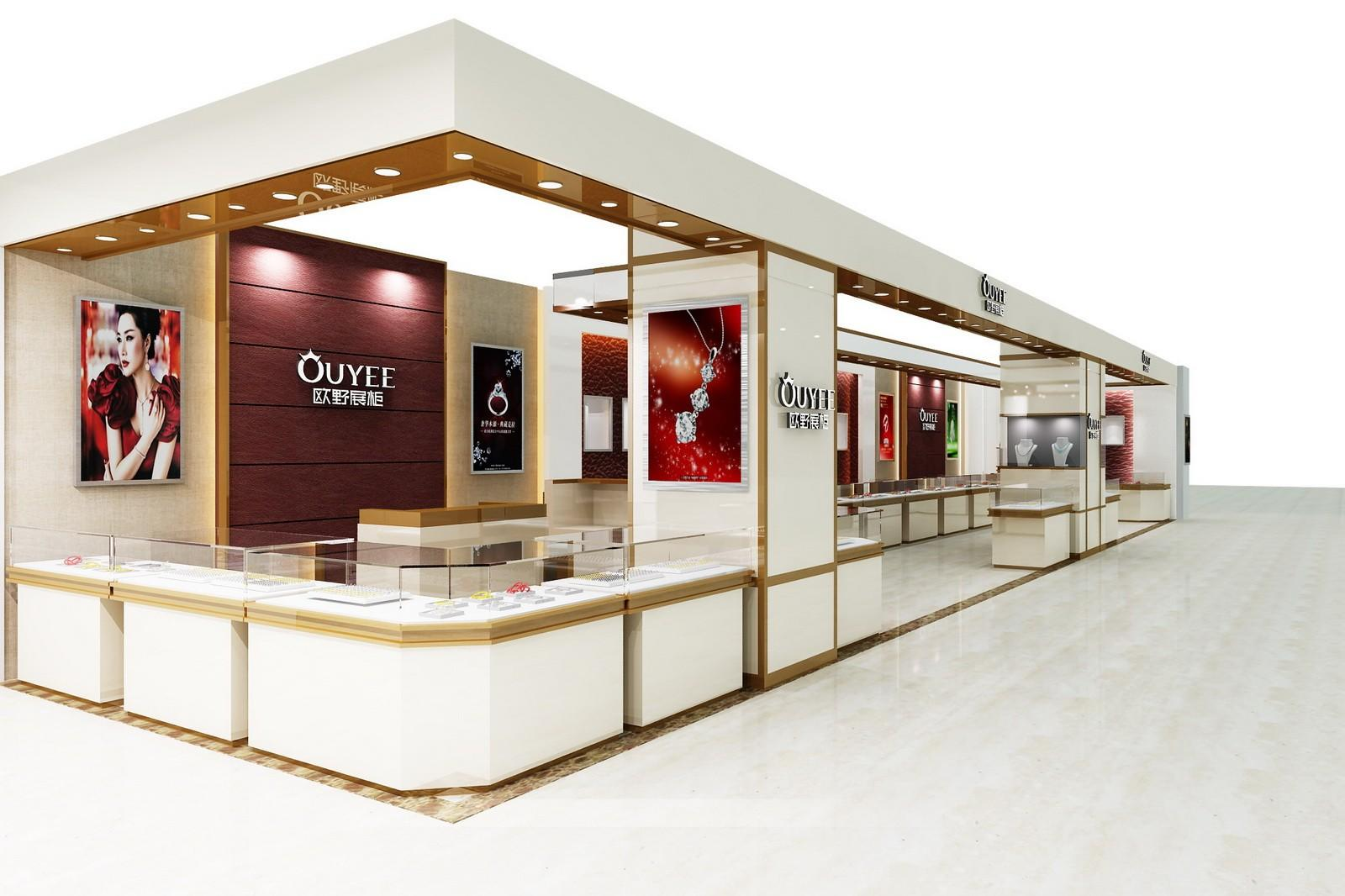 latest jewellery window display commercial for wholesale OUYEE-2