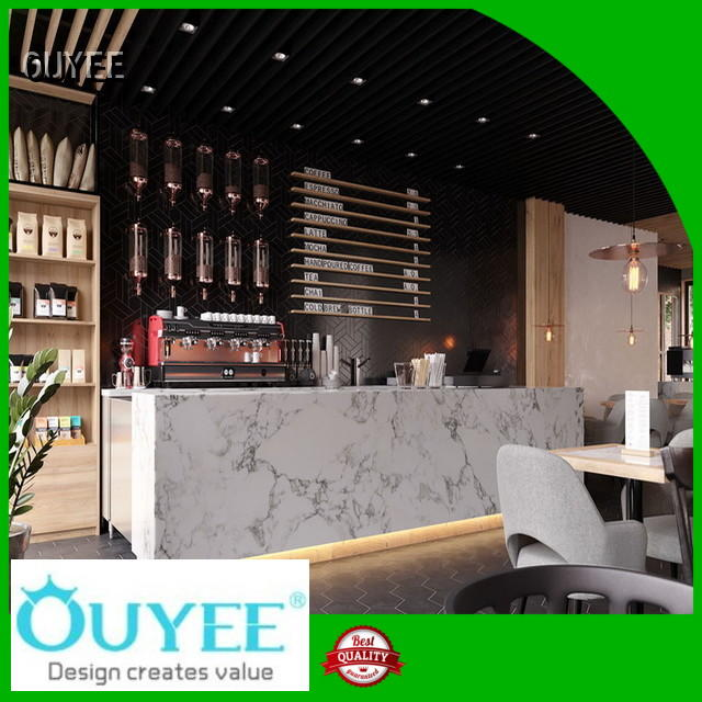 OUYEE Brand station interior kiosk coffee shop layout supplier