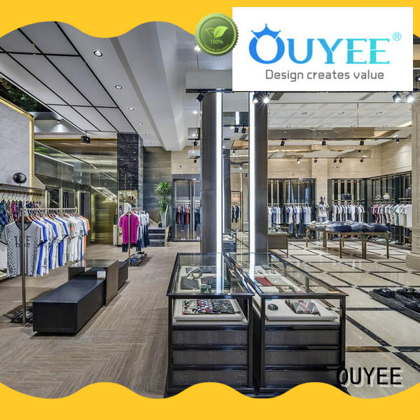 OUYEE free delivery tailoring shop interior design at discount underwear display