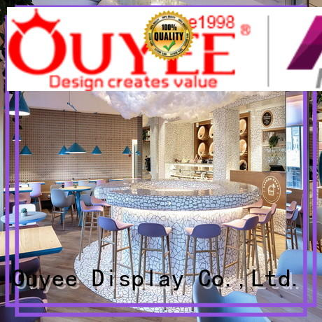 OUYEE chic coffee bar layout modern for club