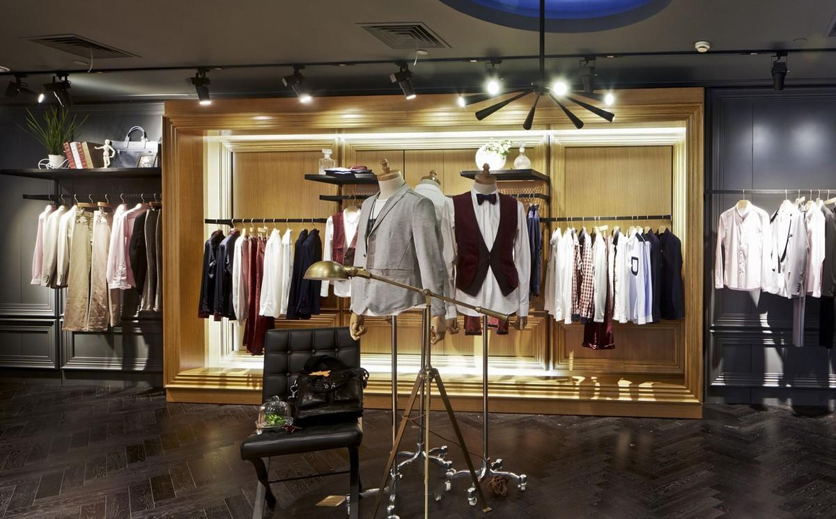 high-end shop clothes rack high quality universal underwear display-3