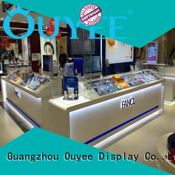design racks units makeup OUYEE Brand cosmetic shop supplier