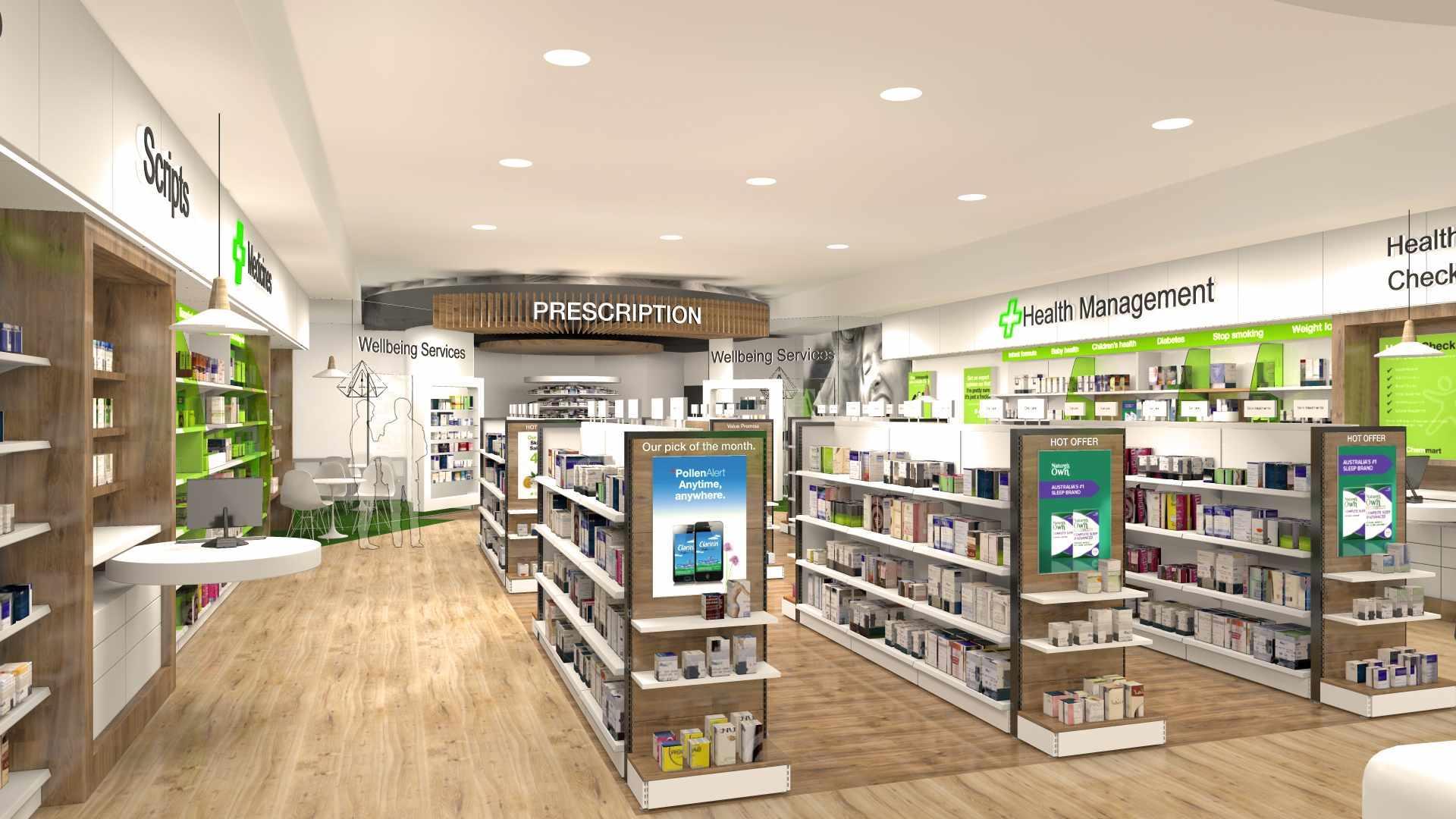 Pharmacy Shop Display