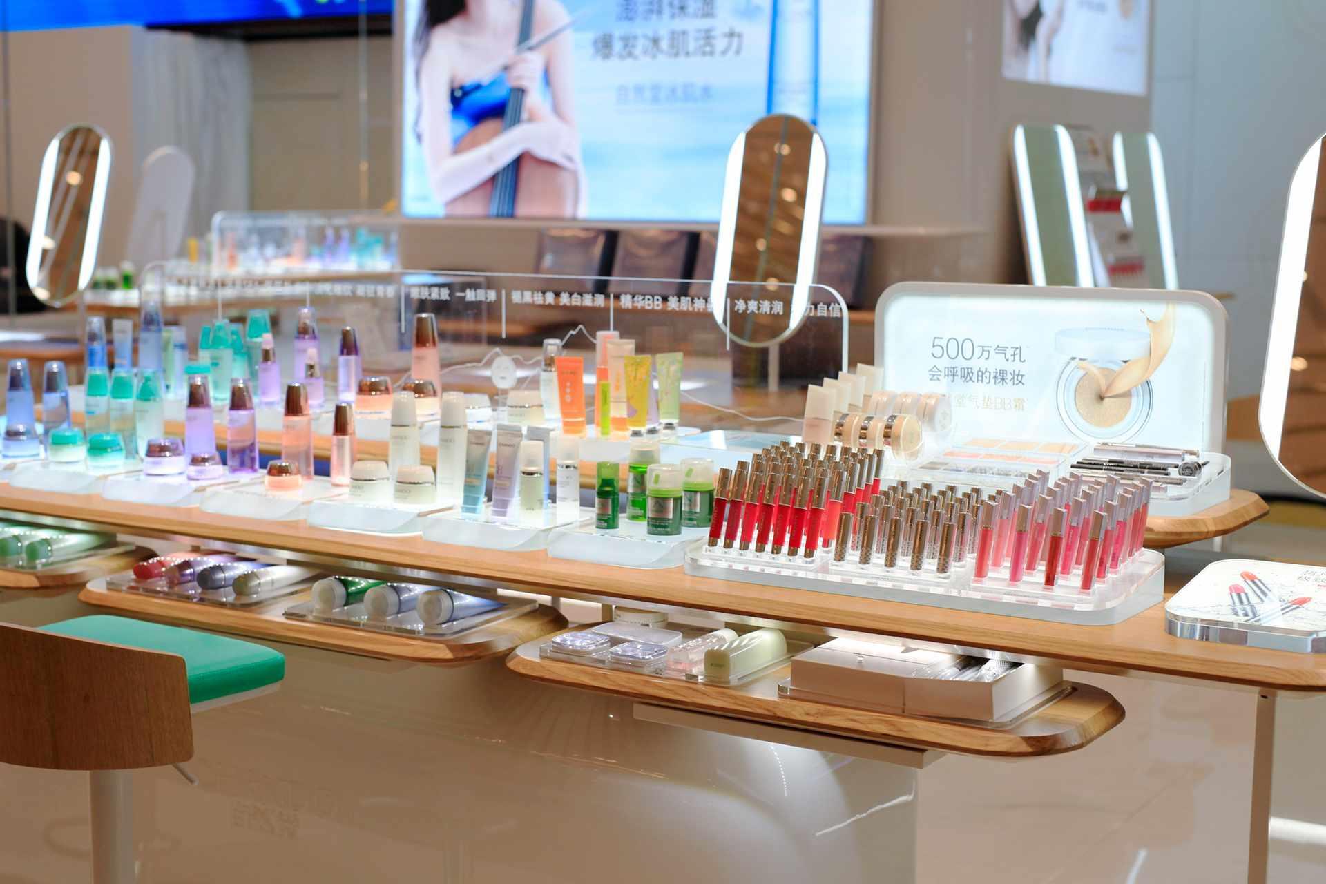 Cosmetics Display Kiosk Design