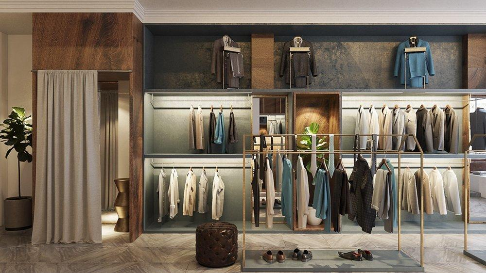 Menswear Shop Interior Design