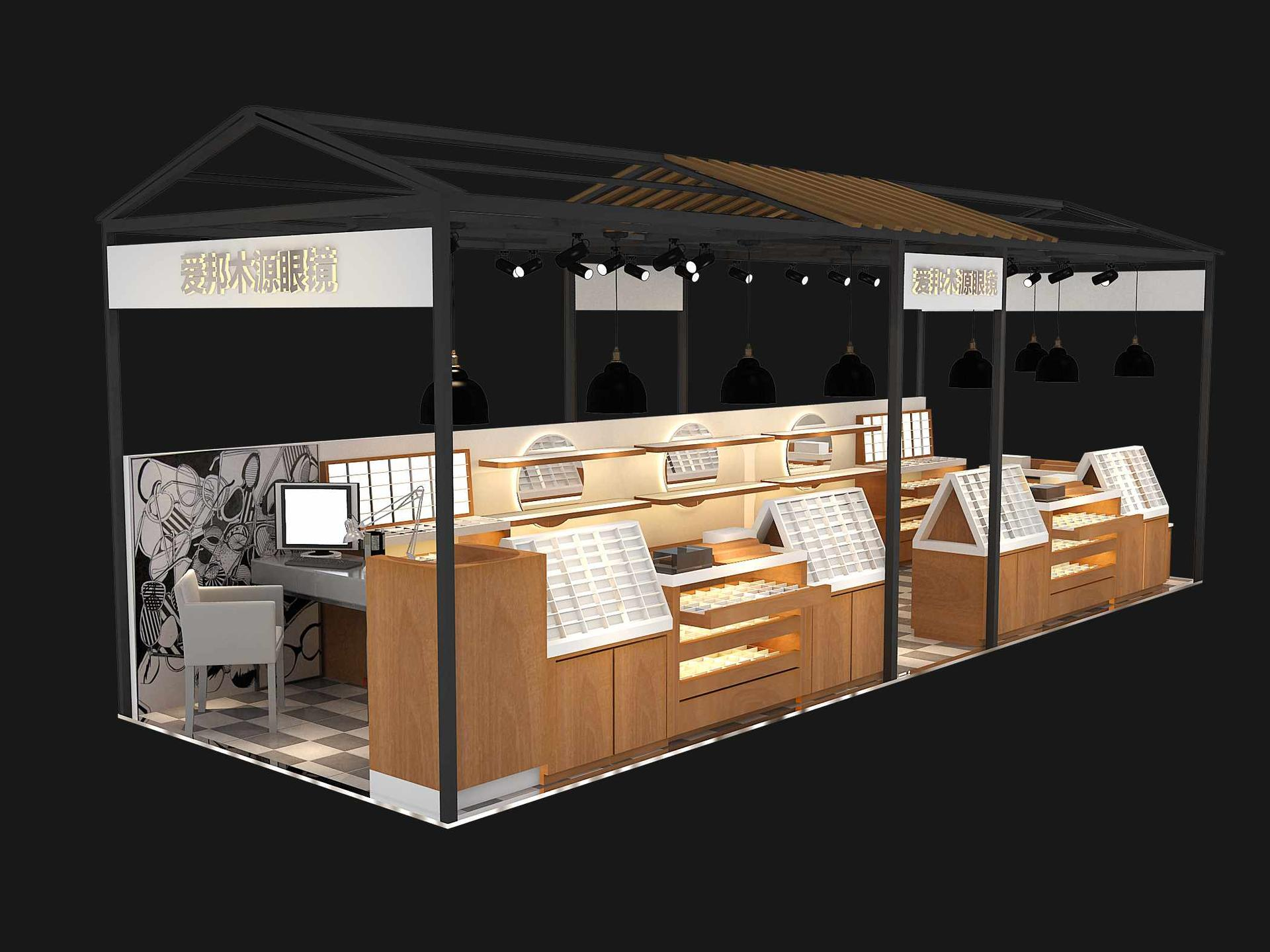 Optical Display Kiosk Design