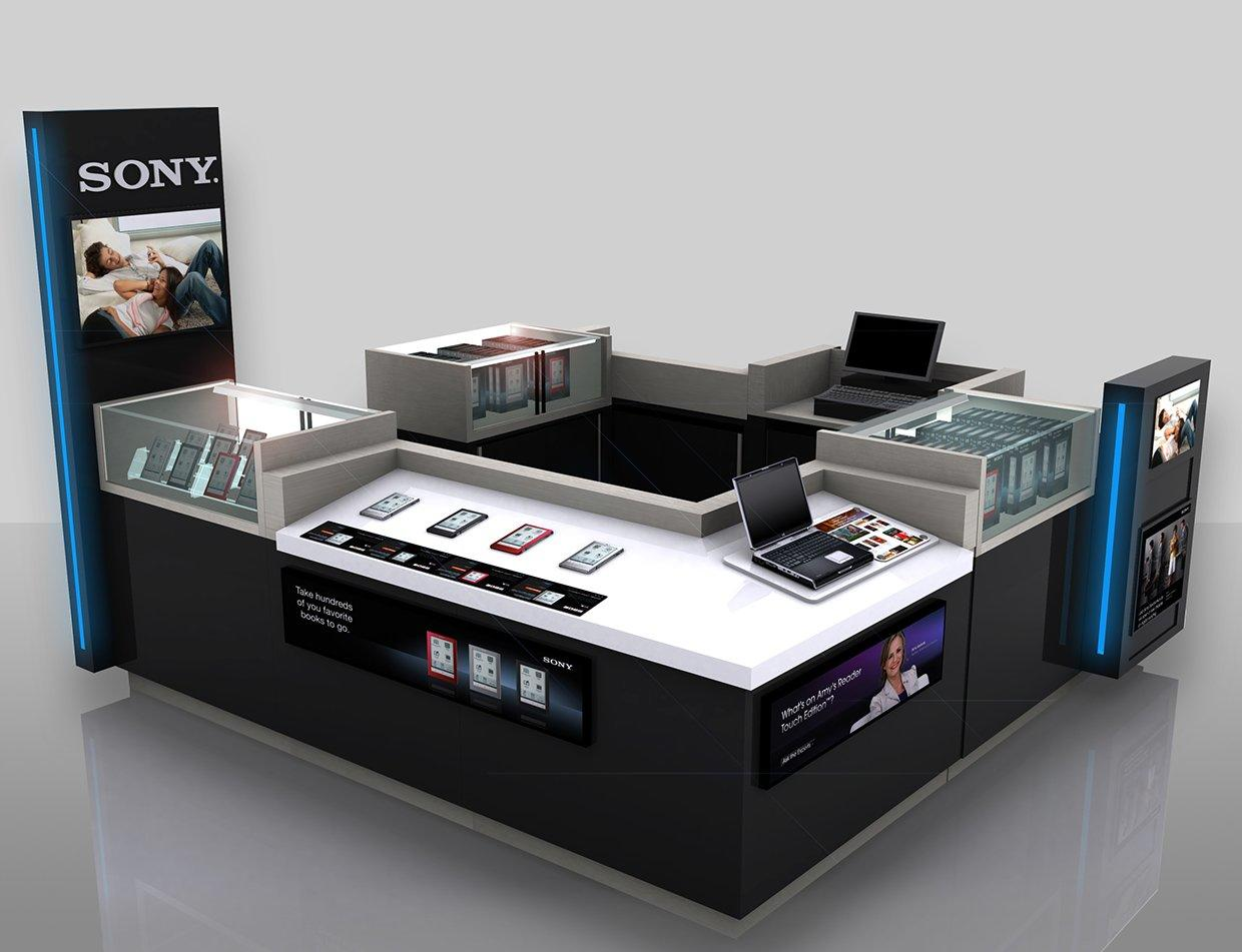 Cell Phone Display Kiosk Design