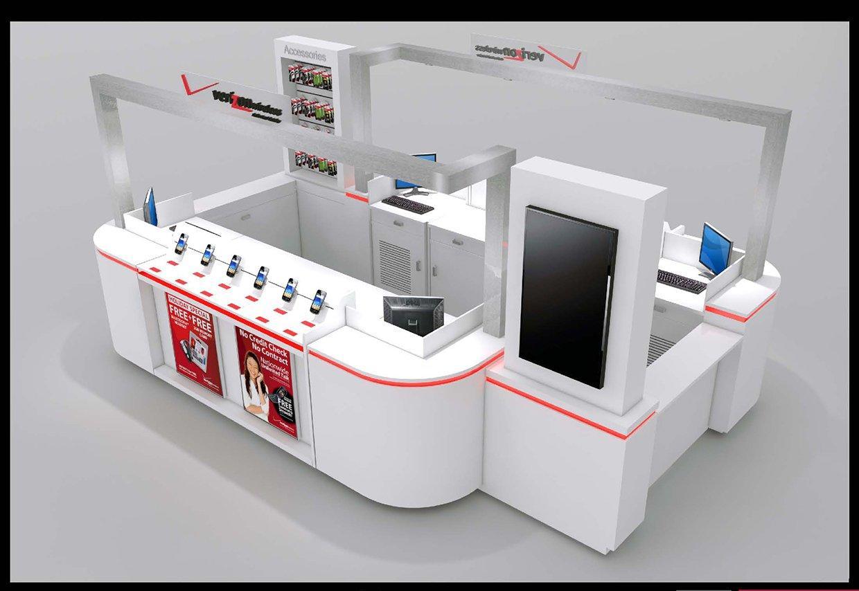 Mobile Phone  Display Kiosk Design