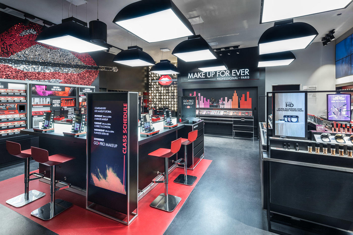cosmetic counter design