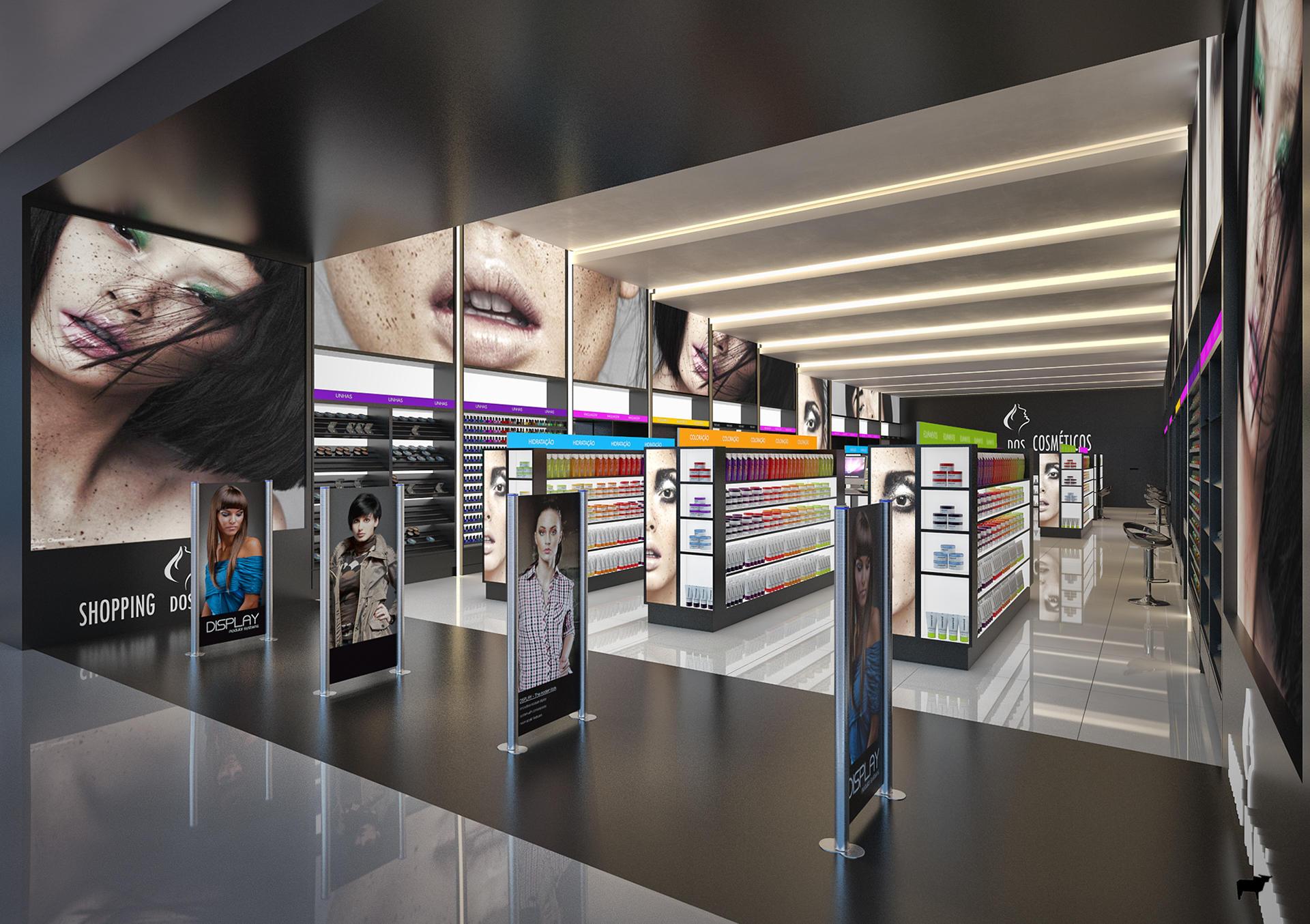 cosmetic showcase display