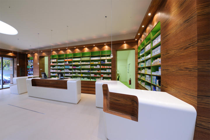 decoration design pharmacy counter drugstore OUYEE