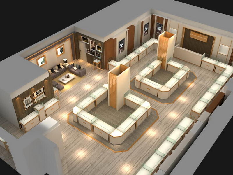 Display Tower Jewellery Shop Furniture Design OY-JWSD004