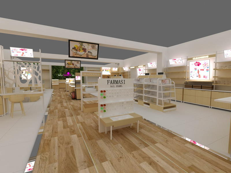Cosmetics Shop Furniture OY-COSD004