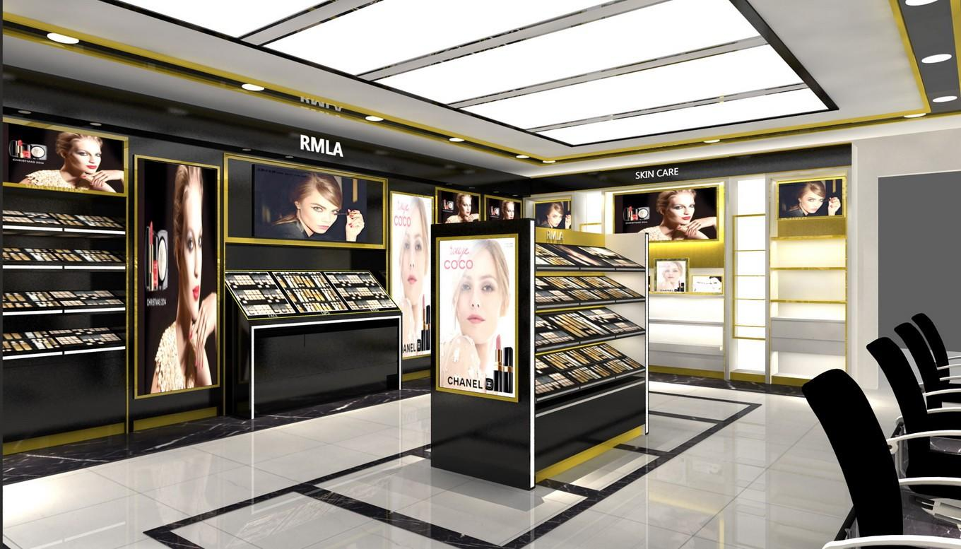 Wholesale shop makeup retail display OUYEE Brand