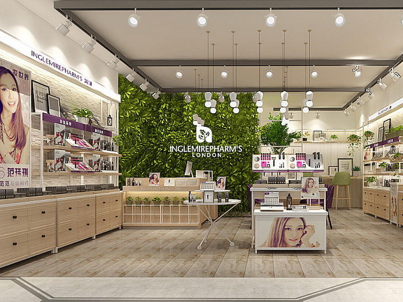 Newest Cosmetic Showroom Design OY-COSD007