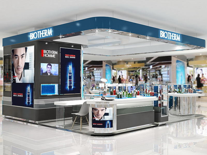 Shop Design Display Cosmetic Kiosk OY-COSD009