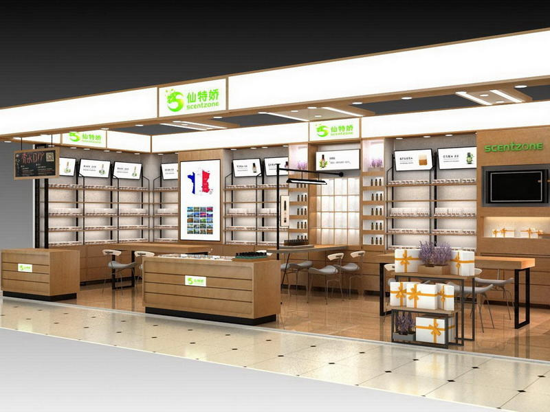 Cosmetic Display Decoration Store Design OY-COSD014