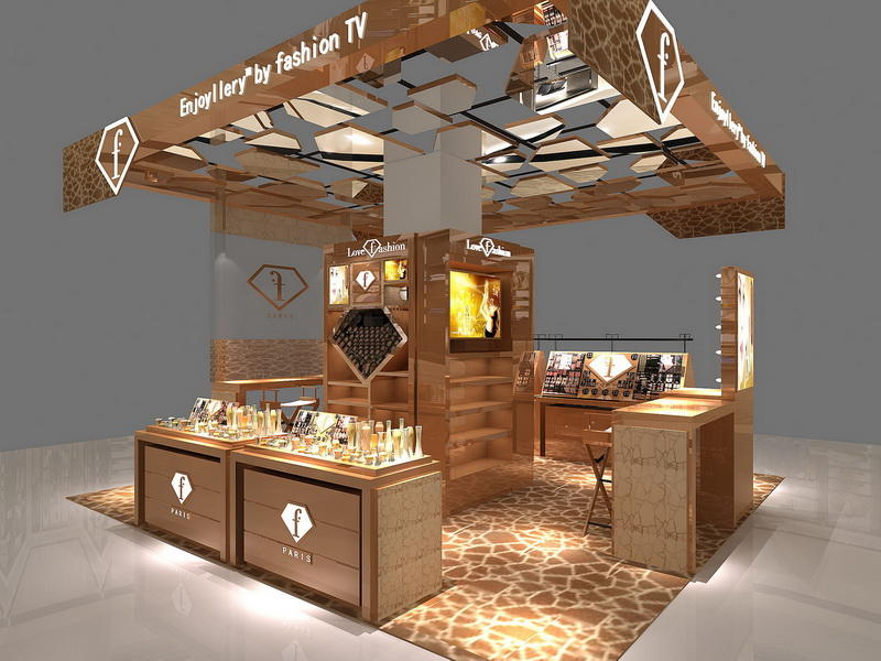 Cosmetic Display Decoration Store Design OY-COSD015