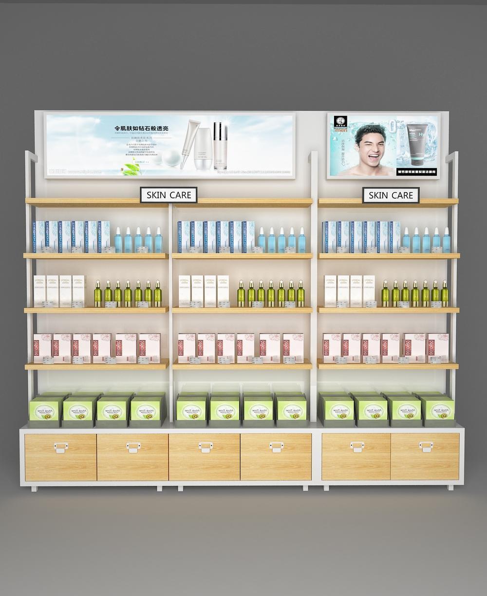 Shop Furniture Cosmetic Display Racks OY-COSD017