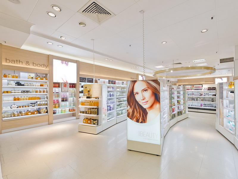 Interior Showroom Cosmetic Shop Design OY-COSD018
