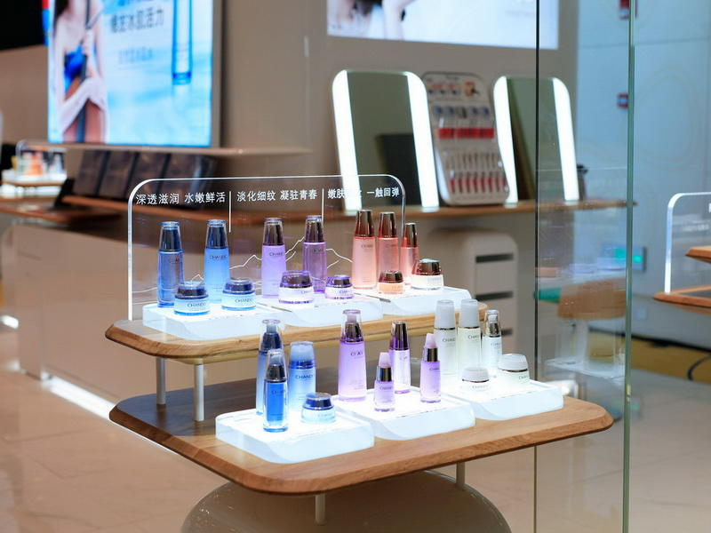 Cosmetic Beauty Shop Kiosk Display Stand OY-COSD022