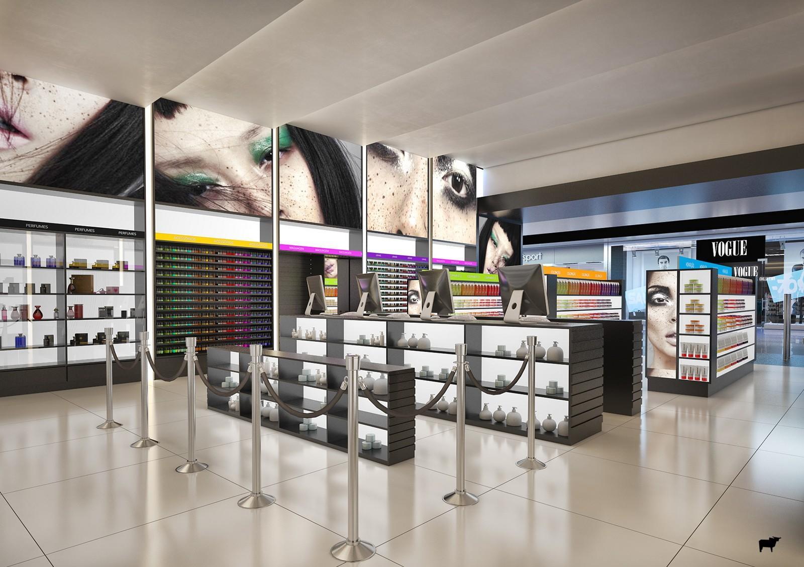 kiosk display cosmetic shop showroom OUYEE Brand