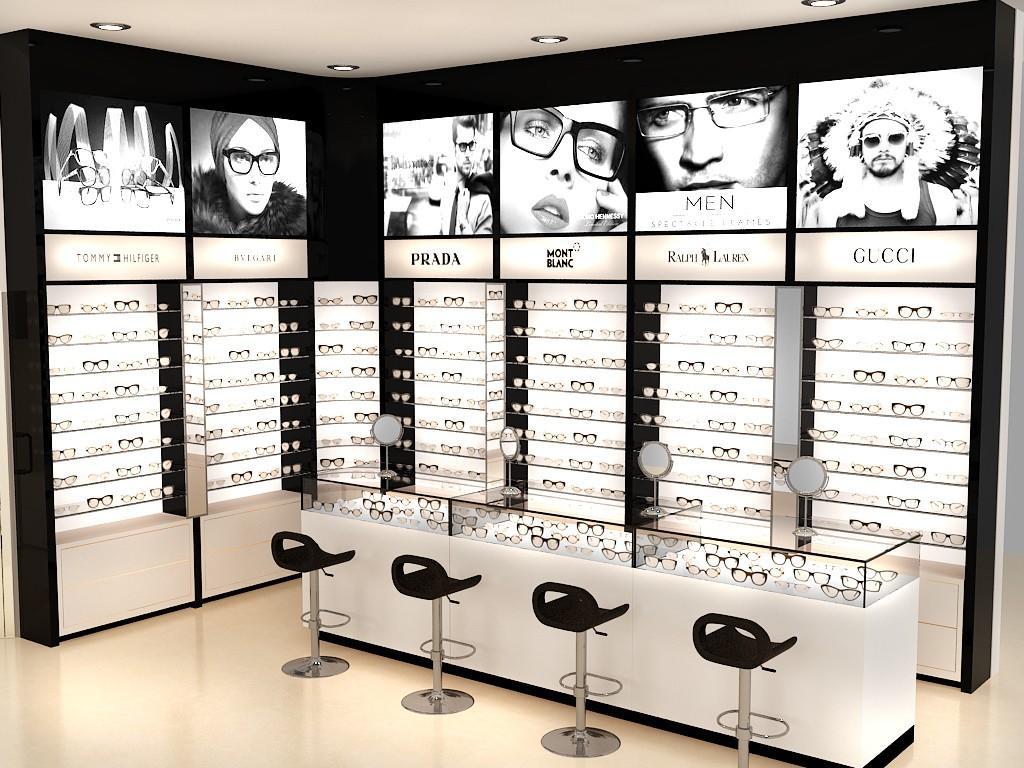 OUYEE Brand cabinet eyeglasses showroom sunglass optical displays