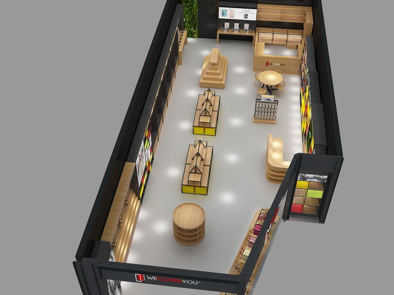 Wooden Electronic Shop Display OY-MSD001