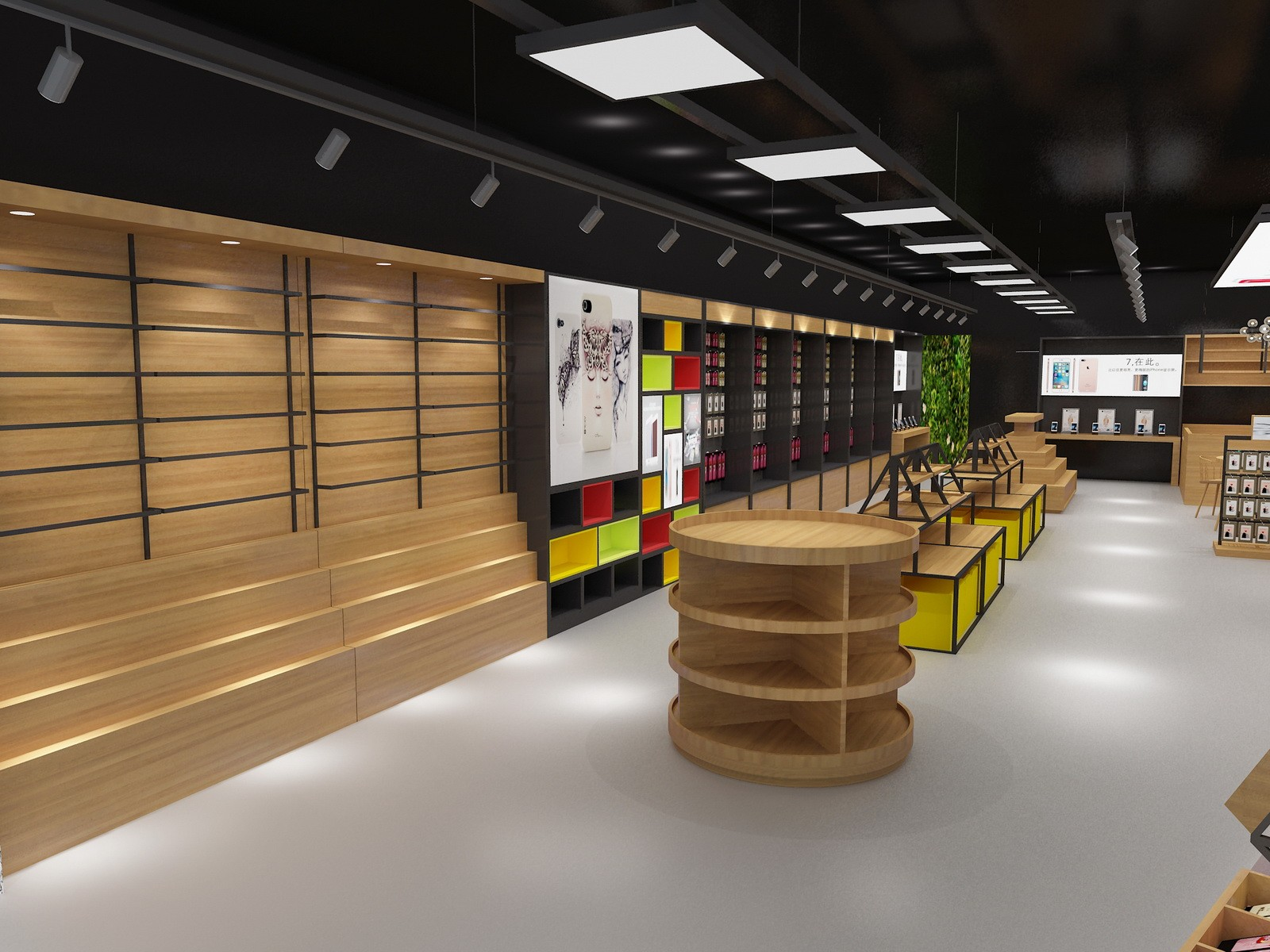 top brand mobile counter design showcase bulk production-4