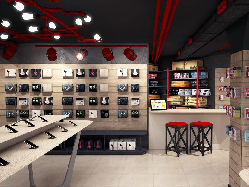 MDF Plywood Phone Shop Design OY-MSD017