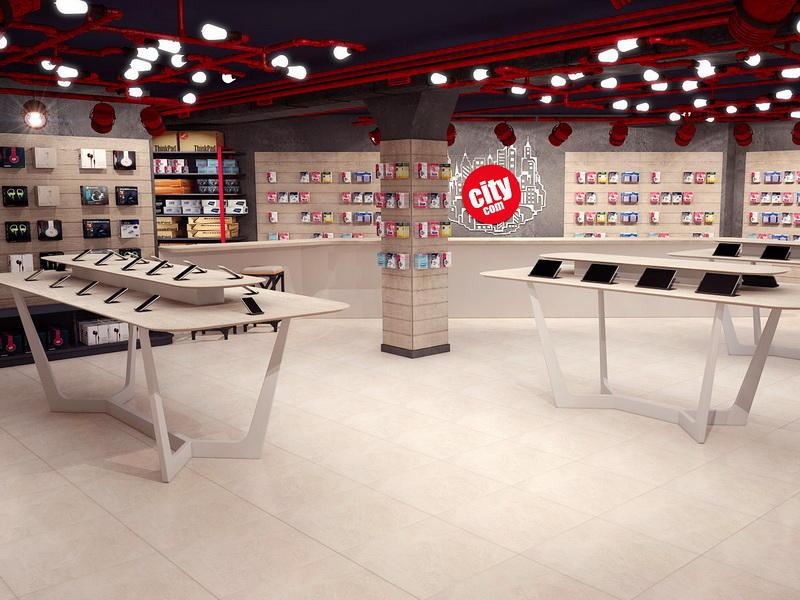 MDF Plywood Phone Shop Design OY-MSD017