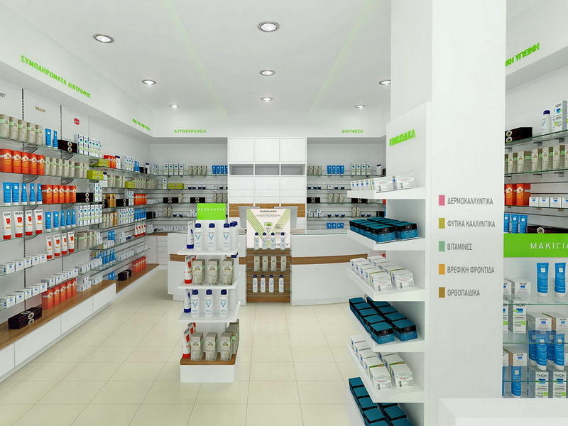 Retail Medical Store Furniture OY-PSD004