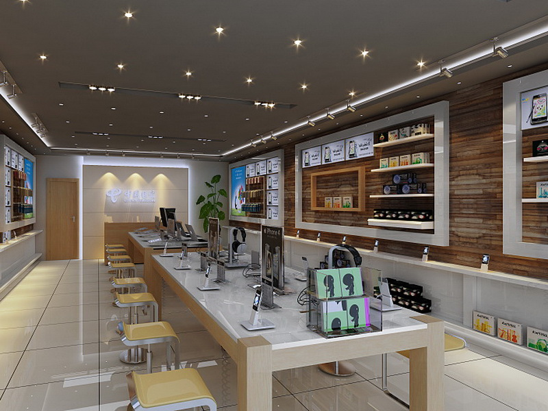 showcase electronic shop interior design fast installation for electronics OUYEE-5
