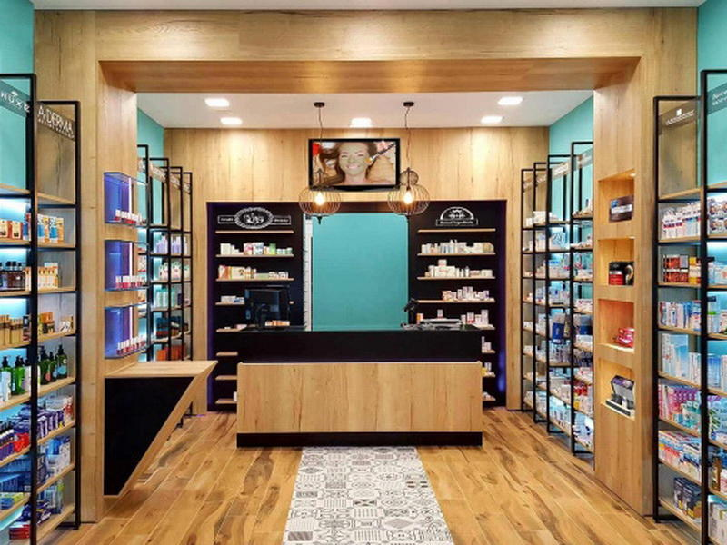 OUYEE Brand medicine retail pharmacy counter design