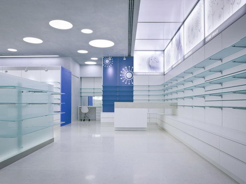 Pharmacy Shelving Units Decoration OY-PSD007