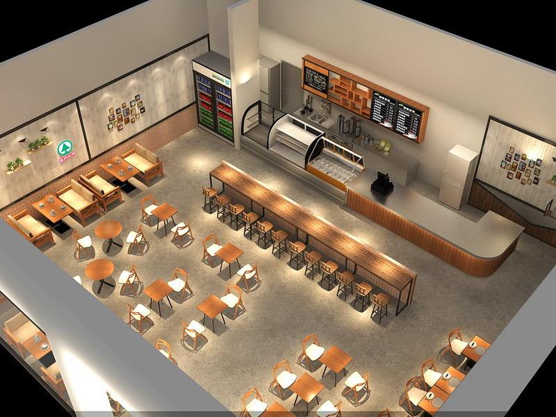 Cafe Interior Design Ideas  OY-CSD010