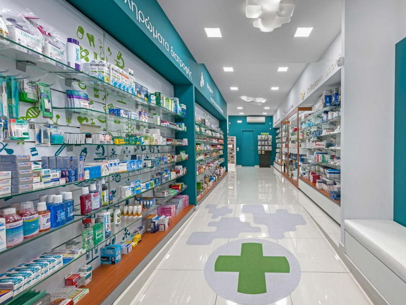 OUYEE newest retail pharmacy interior design fast installation for shop