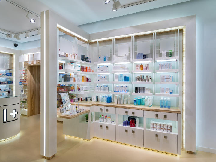 Custom designs retail pharmacy counter OUYEE layout