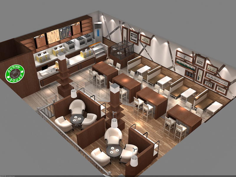 Coffee Shop Design Layout OY-CSD011