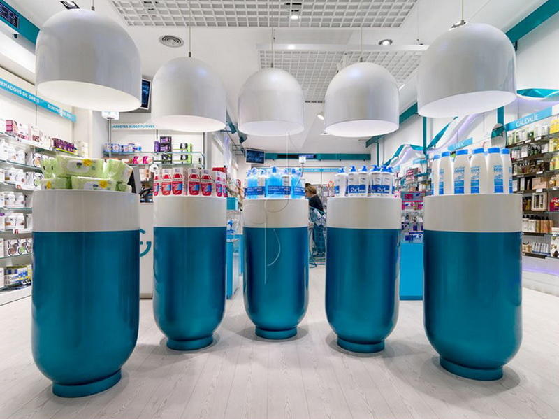 China Pharmacy Store Design OY-PSD012