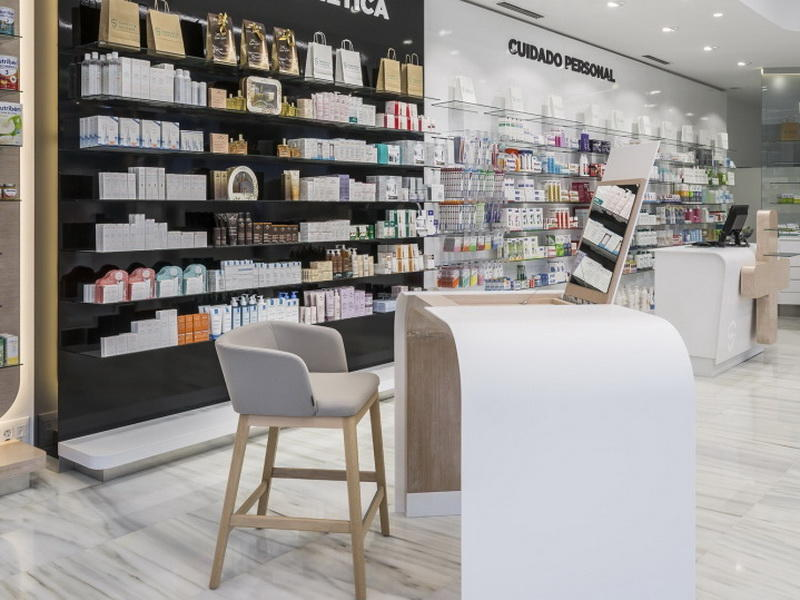 Medical Store Counter Design OY-PSD013